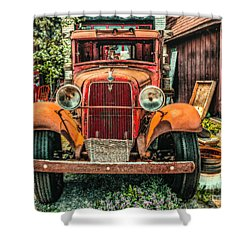 Shower Curtain featuring the photograph Flat Bed Ford by Nick Zelinsky