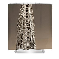 Flat Iron Building New York City Shower Curtain by Dave Mills