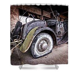 Flat Tire Shower Curtain