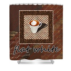 Shower Curtain featuring the photograph Flat White - Coffee Art by Anastasiya Malakhova