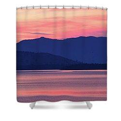 Flathead Lake At Sunrise Shower Curtain