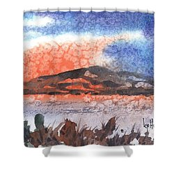 Flathead Lake Montana Shower Curtain by Kevin Heaney
