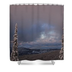 Flathead Winter 2016 Shower Curtain