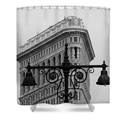 Flatiron Building New York Shower Curtain by Andrew Fare