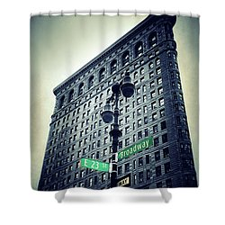 Shower Curtain featuring the photograph Flatiron Directions by Jessica Jenney