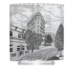 Flatiron In Asheville  Shower Curtain