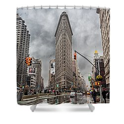 Flatiron Loveliness Shower Curtain