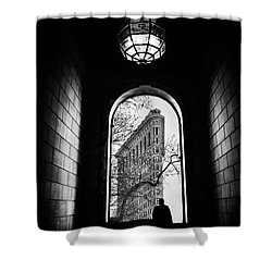 Shower Curtain featuring the photograph Flatiron Perspective by Jessica Jenney