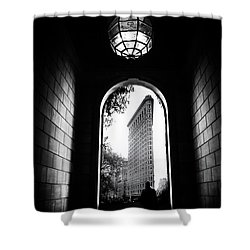 Shower Curtain featuring the photograph Flatiron Point Of View by Jessica Jenney