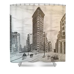 Flatiron Study Shower Curtain