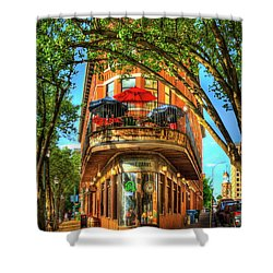 Flatiron Style Pickle Barrel Building Chattanooga Tennessee Shower Curtain by Reid Callaway
