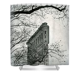 Shower Curtain featuring the photograph Flatiron Vintage by Jessica Jenney