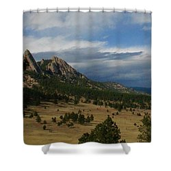 Flatirons, Boulder, Colorado Shower Curtain