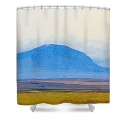 Flatlands Shower Curtain by Susan Crossman Buscho