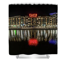 Flats East Bank Shower Curtain by Brent Durken
