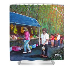 Flea Market Shower Curtain