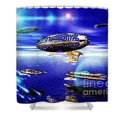 Fleet Lomo Shower Curtain by Jacqueline Lloyd
