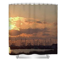 Fleet Shower Curtain by Newwwman