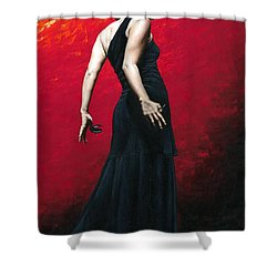 Flemenco Arrogancia Shower Curtain by Richard Young