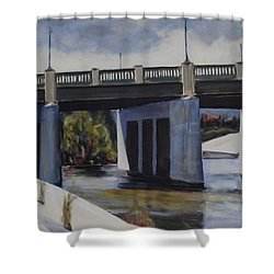 Fletcher Street Bridge Shower Curtain by Richard Willson