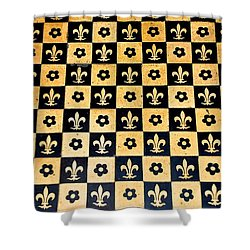 Fleur De Lis Floor Shower Curtain by Eric Tressler