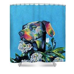 Fleur's Moment Shower Curtain by Arleana Holtzmann