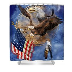Flight For Freedom Shower Curtain by Carol Cavalaris
