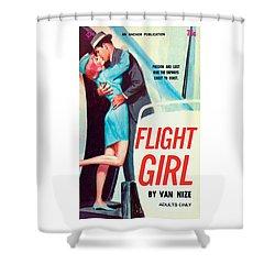 Flight Girl Shower Curtain