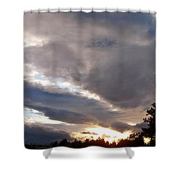 Flight Into Evening Shower Curtain