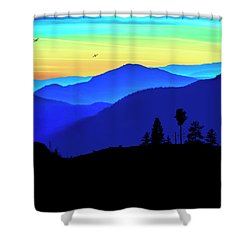 Shower Curtain featuring the photograph Flight Of Fancy by John Poon