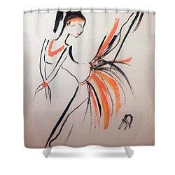 Flight Of Fancy Shower Curtain by Judith Desrosiers
