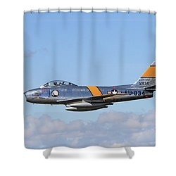 Flight Of The Sabre  Shower Curtain