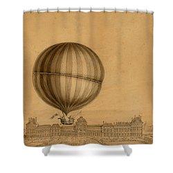 Flight Over Paris Shower Curtain