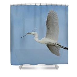 Shower Curtain featuring the photograph Flight Path by Fraida Gutovich