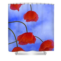Flight Red Shower Curtain
