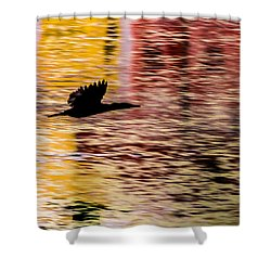 Shower Curtain featuring the photograph Flight To Solitude by Ramabhadran Thirupattur