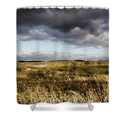 Shower Curtain featuring the photograph Flinders Ranges Fields V3 by Douglas Barnard
