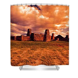 Shower Curtain featuring the photograph Flinders Ranges Ruins by Douglas Barnard