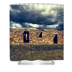 Shower Curtain featuring the photograph Flinders Ranges Ruins V2 by Douglas Barnard