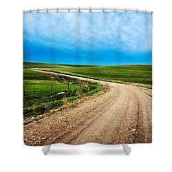 Flint Hills Spring Gravel Shower Curtain
