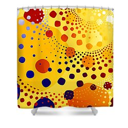 Shower Curtain featuring the digital art Flint Stones by Fran Riley