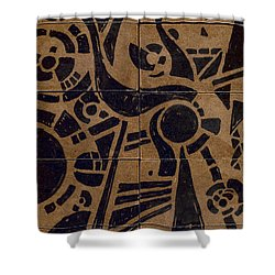 Flipside 1 Panel C Shower Curtain