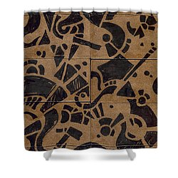 Flipside 1 Panel E Shower Curtain