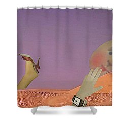 Flirt Shower Curtain by Lyric Lucas