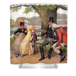 Flirtation, C1810 Shower Curtain by Granger