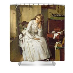 Flo Dombey In Captain Cuttle's Parlour Shower Curtain by William Maw Egley