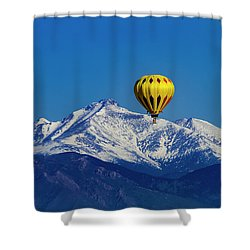 Floating Above The Mountains Shower Curtain by Teri Virbickis