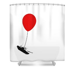 Floating Away  Shower Curtain by Pixel Chimp