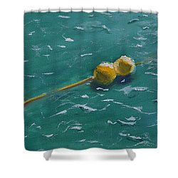 Floating Buoys Shower Curtain