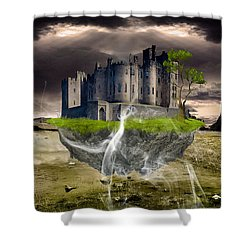 Floating Castle Shower Curtain by Marvin Blaine